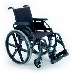 Silla de ruedas acero