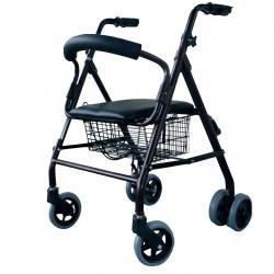 Andador  aluminio 4 ruedas