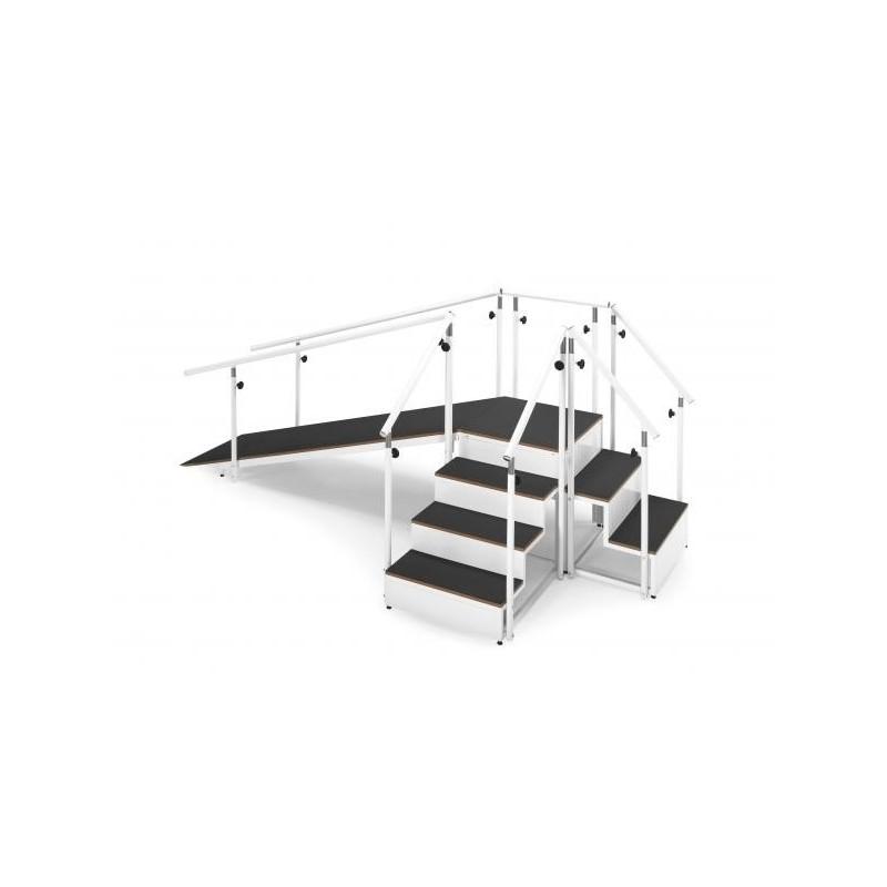 Escalera y plano inclinado. metalico